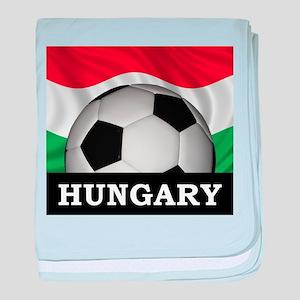 Hungary Football baby blanket