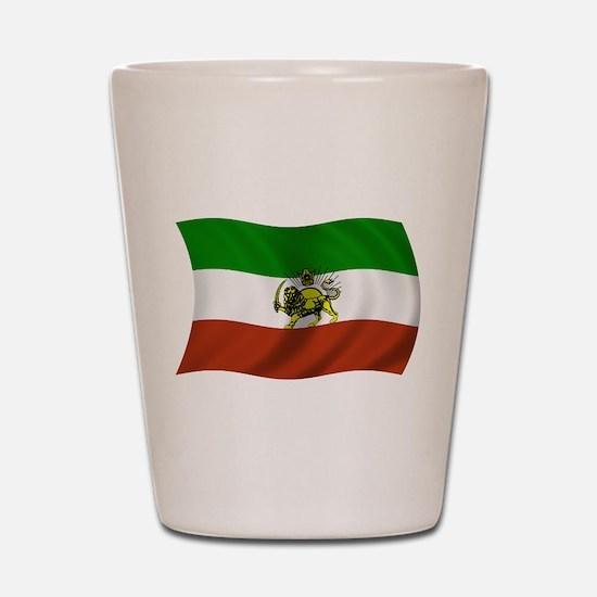 Wavy Pahlavi Dynasty Flag Shot Glass