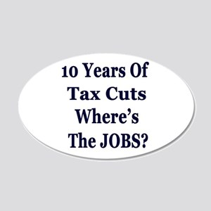 Where's the Jobs?? 22x14 Oval Wall Peel