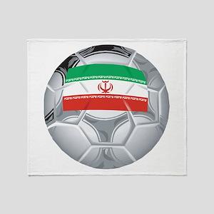 Iran Soccer Throw Blanket