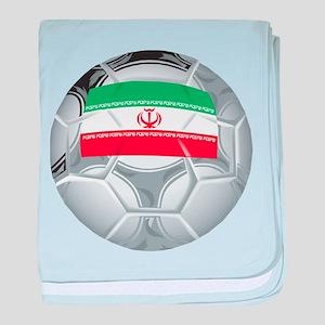 Iran Soccer baby blanket