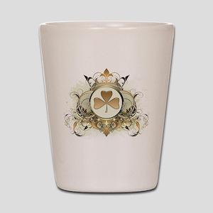 Stylish Shamrock Shot Glass