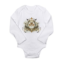 Stylish Shamrock Long Sleeve Infant Bodysuit