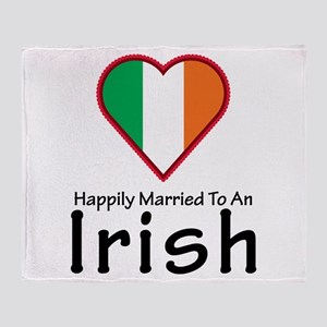 Happily Married Irish Throw Blanket