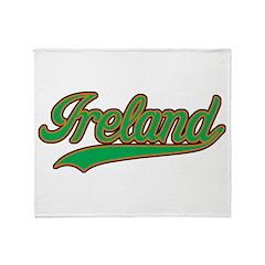 Retro Ireland Throw Blanket