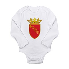 Rome Coat Of Arms Long Sleeve Infant Bodysuit