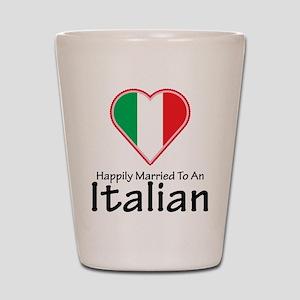 Happily Married Italian Shot Glass