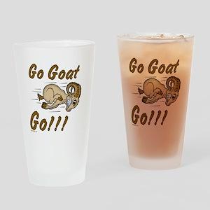 Funny Go Goat GO Drinking Glass