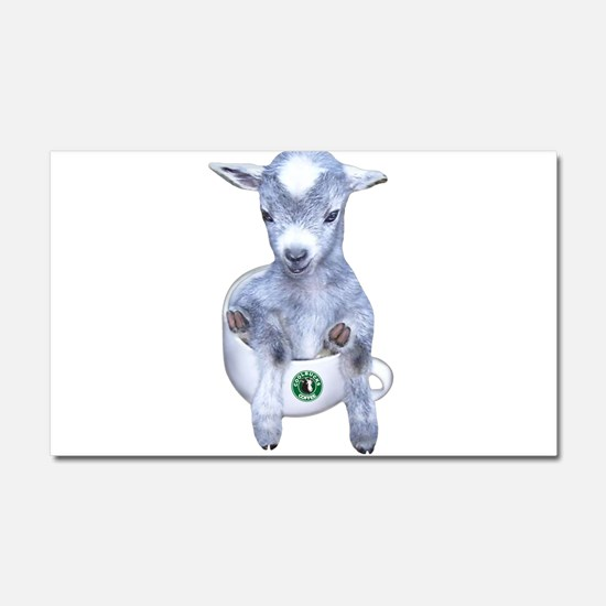 TeaCup Goat Car Magnet 12 x 20