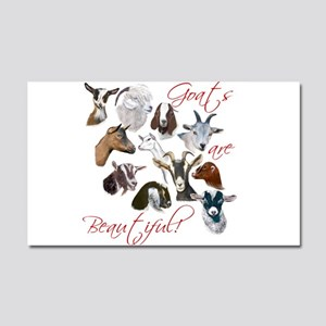 Goats are Beautiful Car Magnet 12 x 20