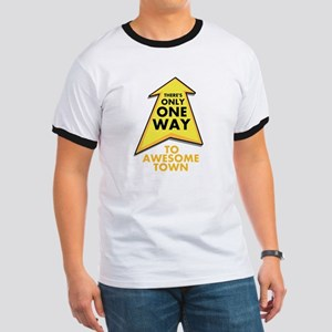 One Way to Awesome Town Ringer T