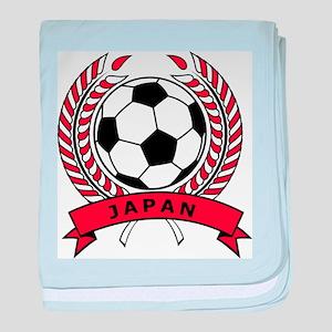 Soccer Japan baby blanket
