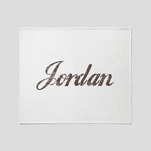 Vintage Jordan Throw Blanket