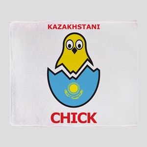 Kazakhstani Chick Throw Blanket