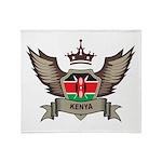 Kenya Emblem Throw Blanket