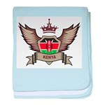 Kenya Emblem baby blanket