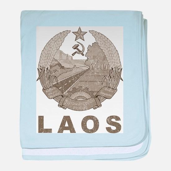 Vintage Laos baby blanket