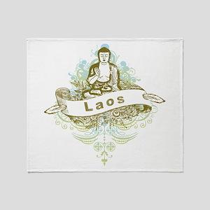 Buddha Laos Throw Blanket