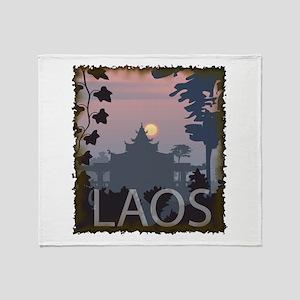 Vintage Laos Throw Blanket