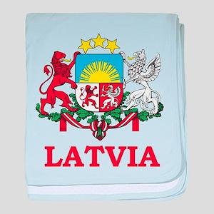 Latvia baby blanket