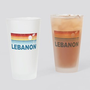 Retro Palm Tree Lebanon Pint Glass