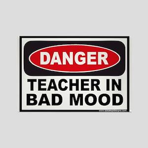 Danger Teacher in Bad Mood Rectangle Magnet