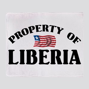 Property Of Liberia Throw Blanket