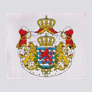 Luxembourg Coat Of Arms Throw Blanket