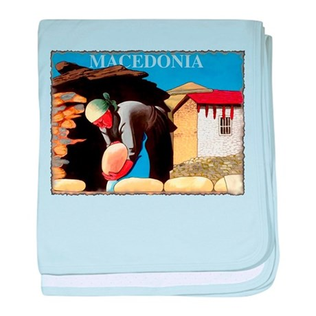 Vintage Macedonia Art baby blanket