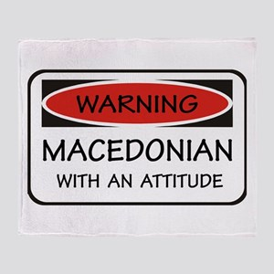 Attitude Macedonian Throw Blanket