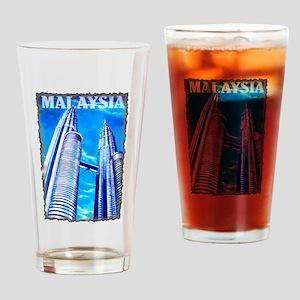 Malaysia Twin Towers Pint Glass