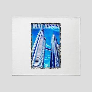 Malaysia Twin Towers Throw Blanket