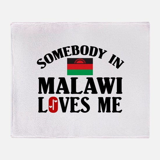 Somebody In Malawi Throw Blanket