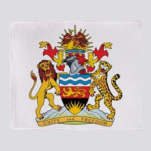 Malawi Coat Of Arms Throw Blanket