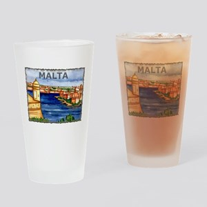 Vintage Malta Art Pint Glass
