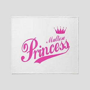 Princess Maltese Throw Blanket