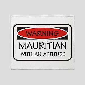 Attitude Mauritian Throw Blanket