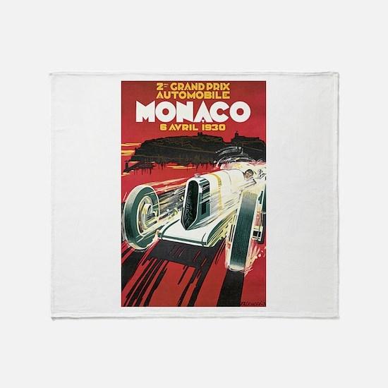 Monaco Grand Prix 1930 Throw Blanket