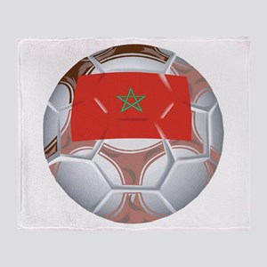 Morocco Soccer Throw Blanket