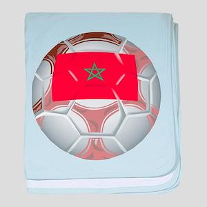 Morocco Soccer baby blanket