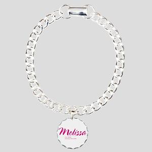 Personalized Melissa Charm Bracelet, One Charm