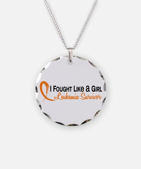 Licensed Fought Like a Girl Necklace