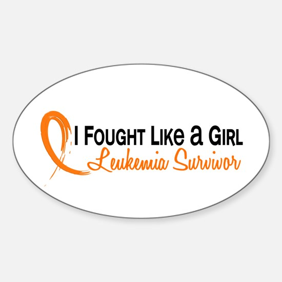 Licensed Fought Like a Girl 6S Leuk Sticker (Oval)