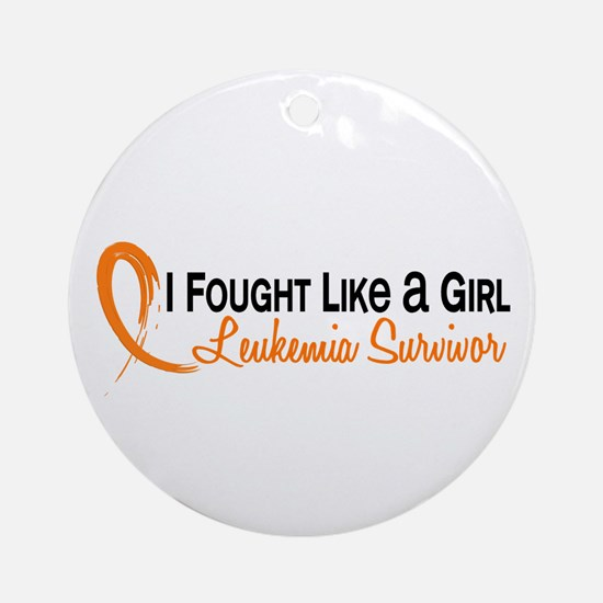 Licensed Fought Like a Girl 6S Le Ornament (Round)