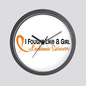 Licensed Fought Like a Girl 6S Leukemia Wall Clock