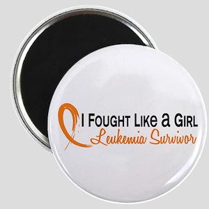 Licensed Fought Like a Girl 6S Leukemia Magnet