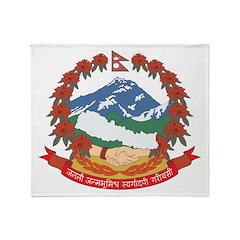 Nepal Coat Of Arms (2006) Throw Blanket