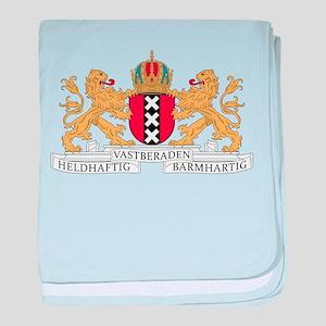 Amsterdam Coat Of Arms baby blanket