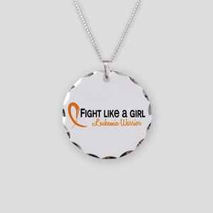 Licensed Fight Like a Girl 6 Necklace Circle Charm
