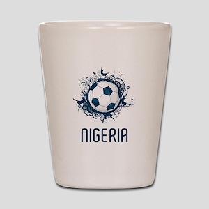 Nigeria Football Shot Glass